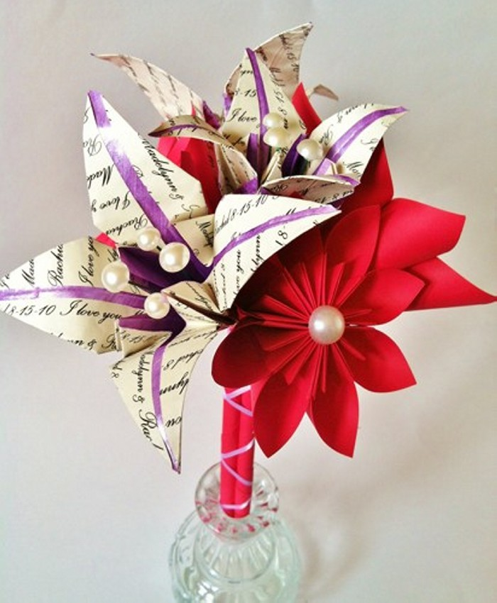 bouquet paper flowers ideas