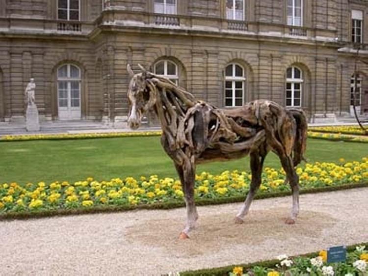 driftwood art horse