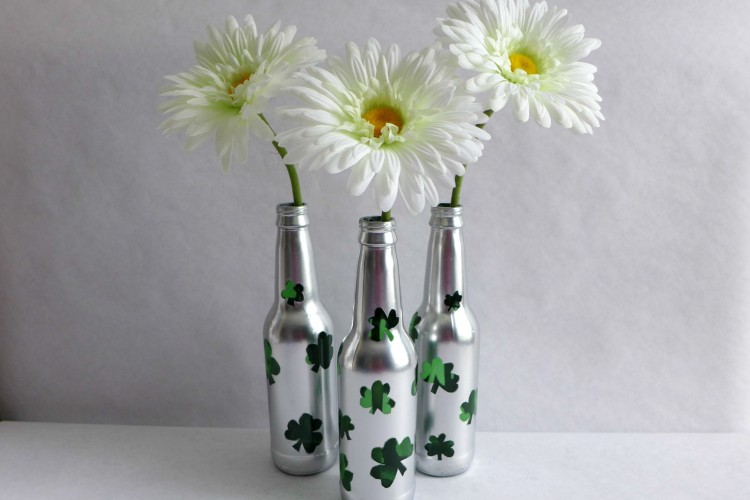 glass bottles upcycled