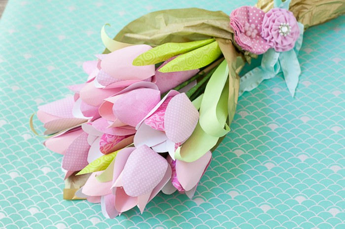 paper flower tulip bouquet