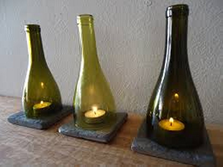 upcycled glass bottles ideas
