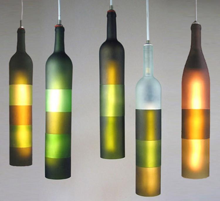 upcycled glass bottles lanterns