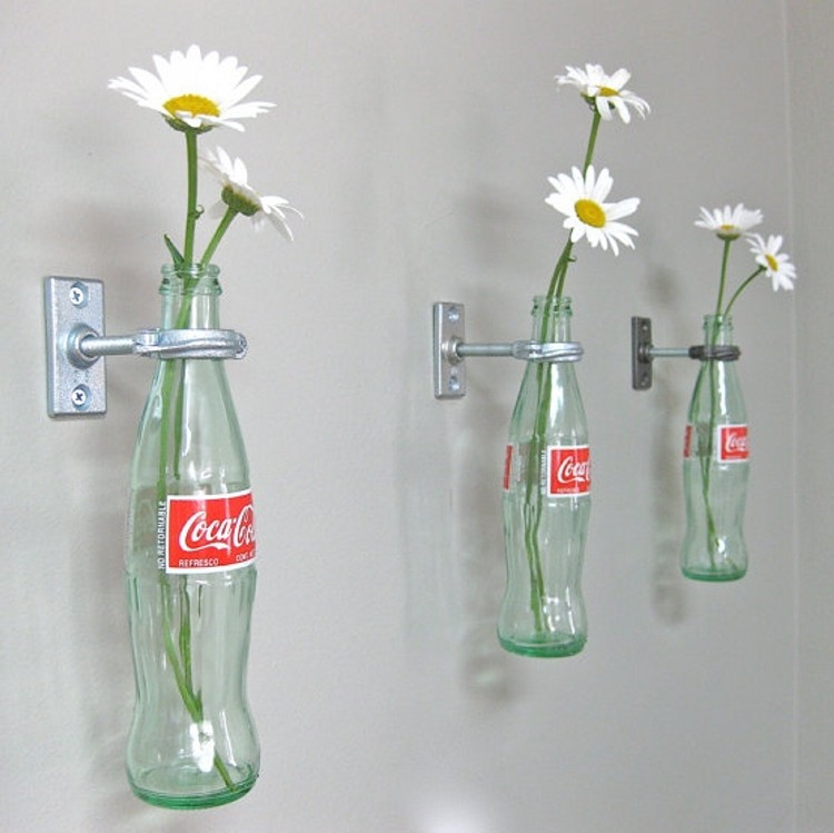 upcycled glass bottles planters