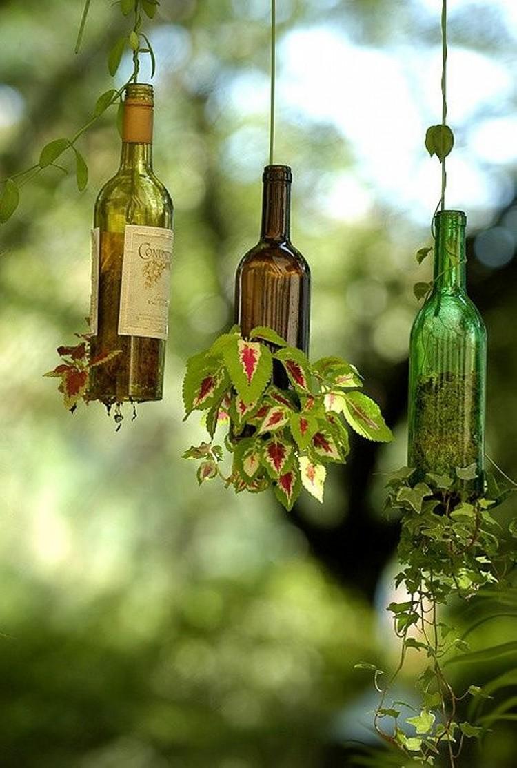 upcycled glass bottles