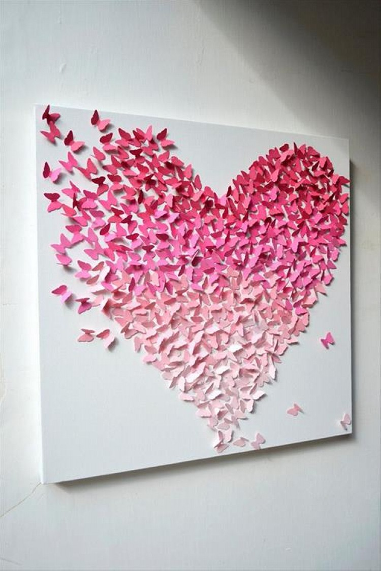 wall art heart painting