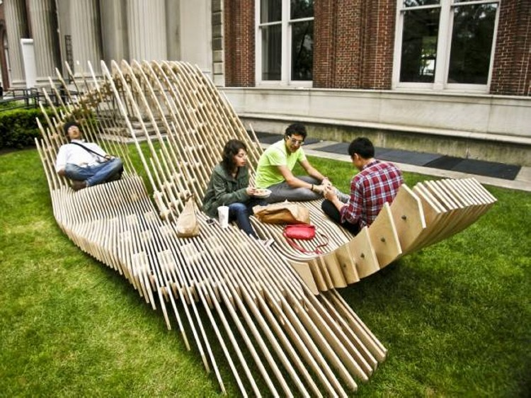 Architectural Wood Patio Seating