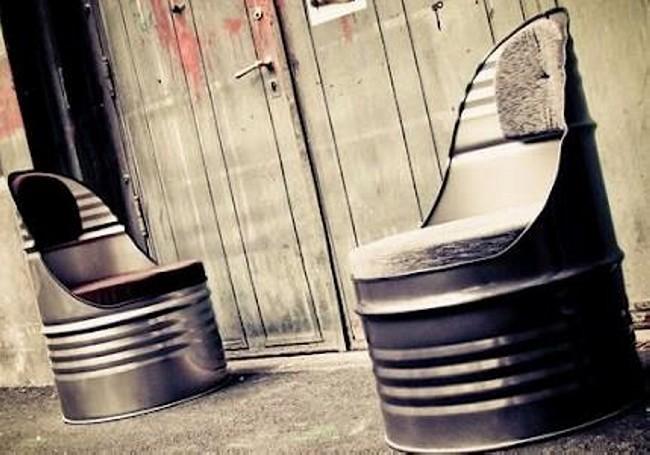 Barrel Metal Chair Designs