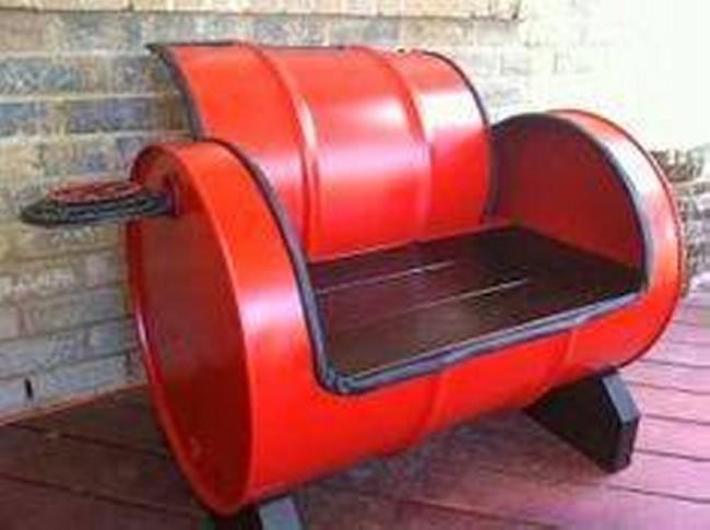 Barrel Metal Chair