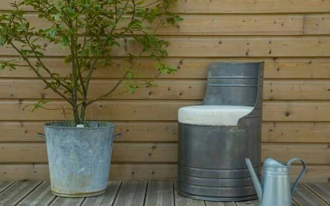 Barrel Metal Upcycled Chairs