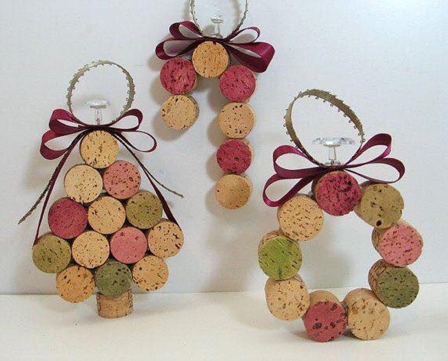 crafts made with wine corks upcycle art