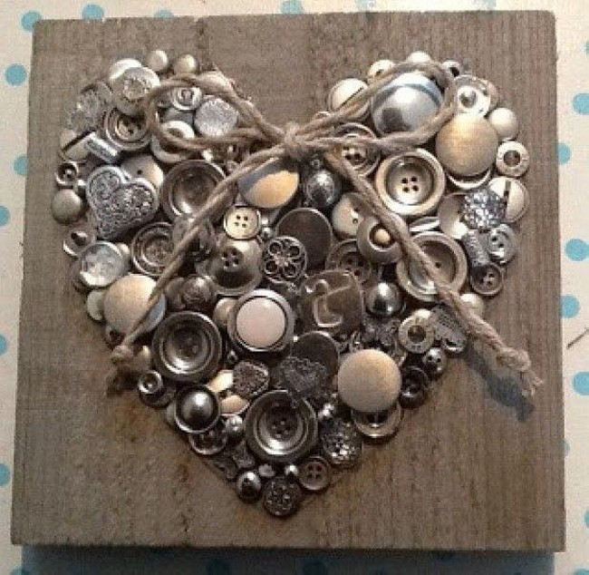 Buttons Heart Craft