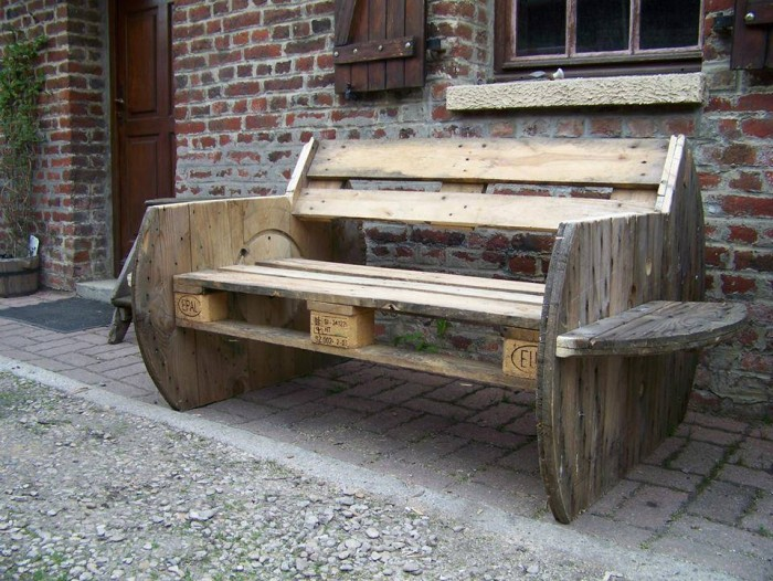 Cable Reel Patio Bench