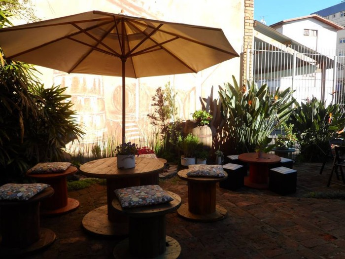 Cable Reel Patio Seating
