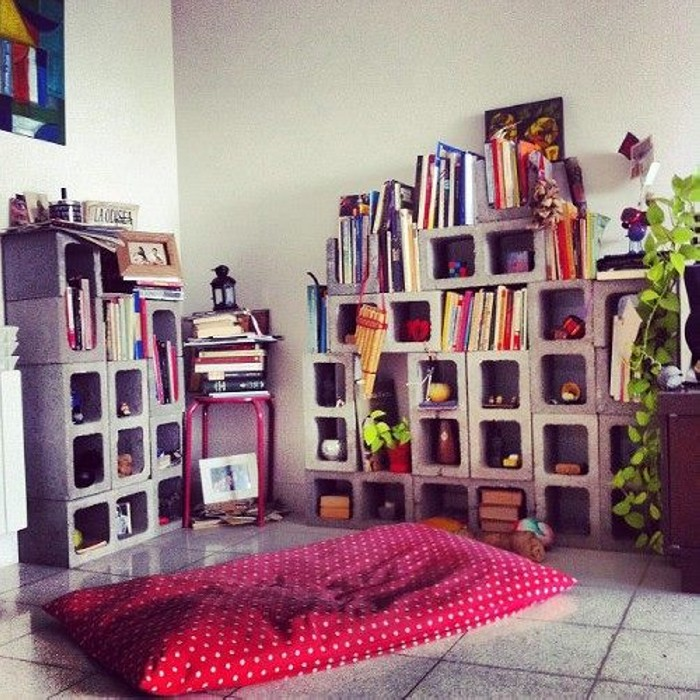Cinder Blocks Bookshelf