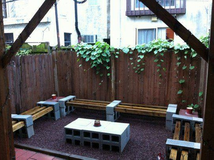 Cinder Blocks Patio Furniture