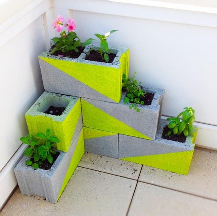 Cinder Blocks Planters