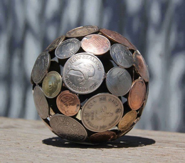 Coins Recycled Art