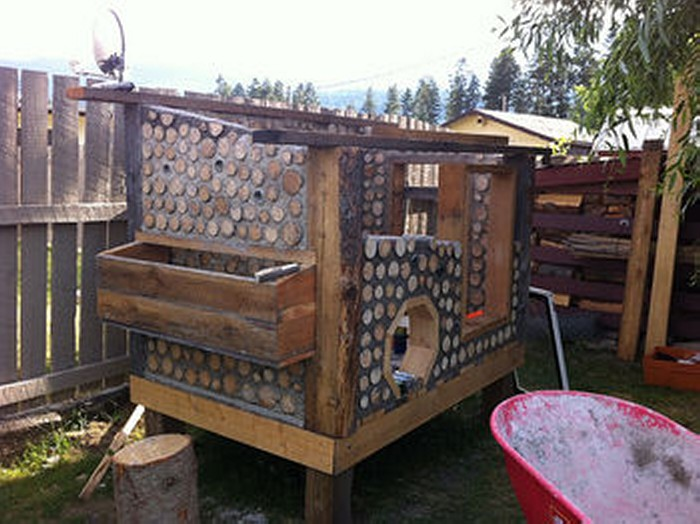Cordwood in Backyard