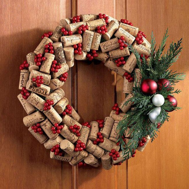 Corks Craft Wreath