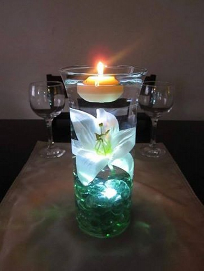 Decorating Candle Centerpieces