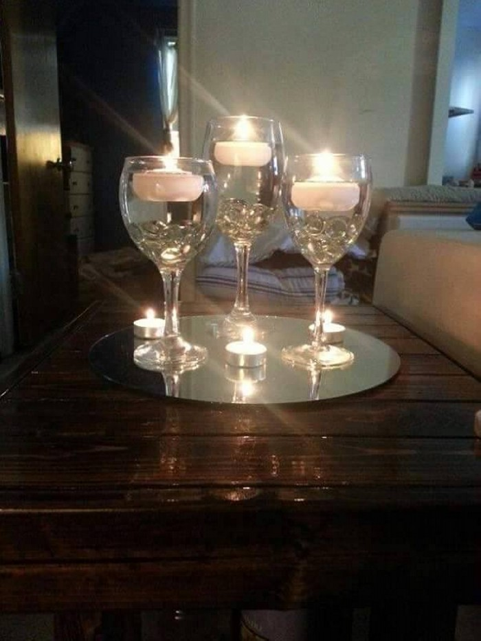 Decorative Glass Candle Centerpieces