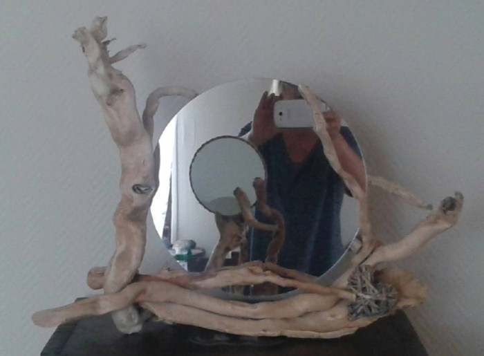 Driftwood Eclipse Mirror