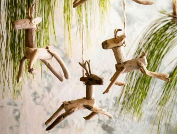 Driftwood Reindeer Ornament