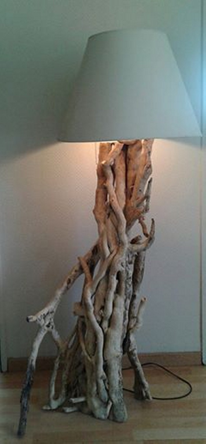 Driftwood Upcycled Lamp
