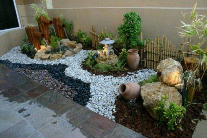 Landscaping Ideas With Stone : Garden landscaping with stones upcycle art