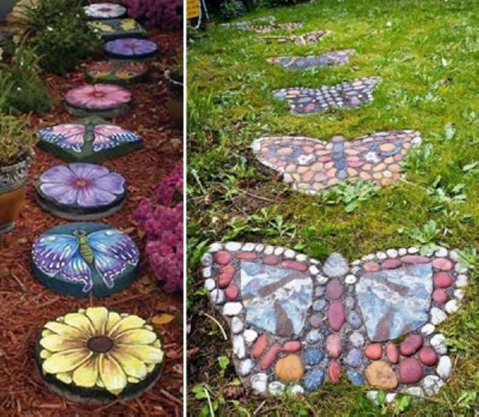 Garden Walk Way Art Ideas