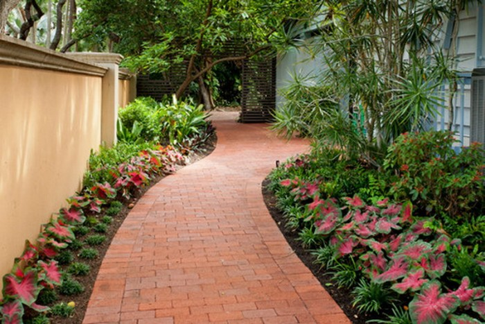 Garden Walkway with Bricks