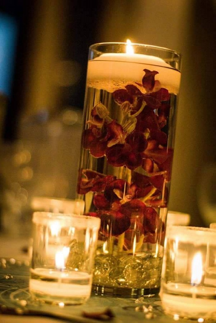 Glass Candle Centerpieces Pictures
