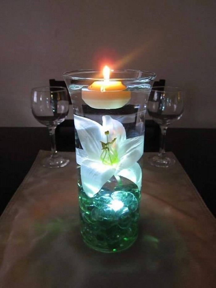 Glass Upcycled Candle Centerpieces
