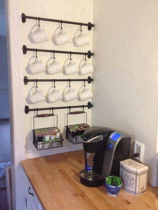 Kitchen Storage Wall Idea
