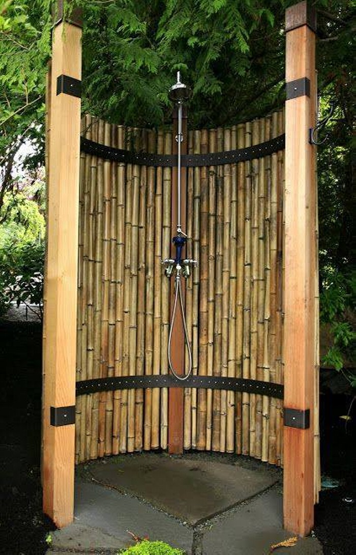 Modern Outdoor Shower Ideas Upcycle Art