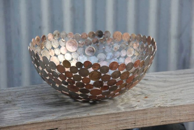 Old Coins into Recycled Art