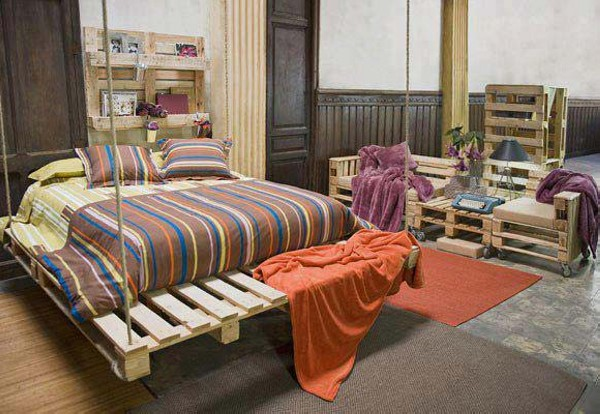 Pallet Hanging Bed Ideas
