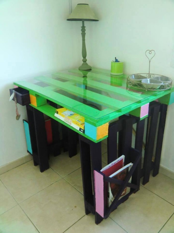 Pallet Made Table with Storage
