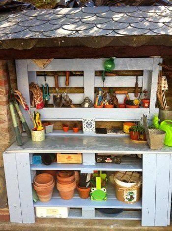 Pallet Mud Kitchen Upcycling Ideas