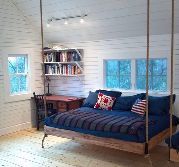 Pallet Wooden Hanging Bed