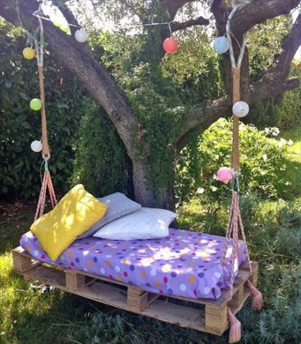 Pallet swing bed ideas