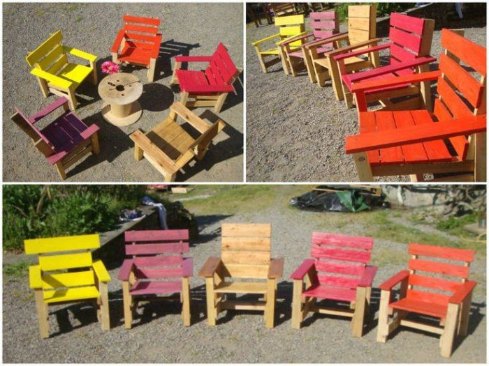 Patio Chairs Pallet Upcycling Ideas