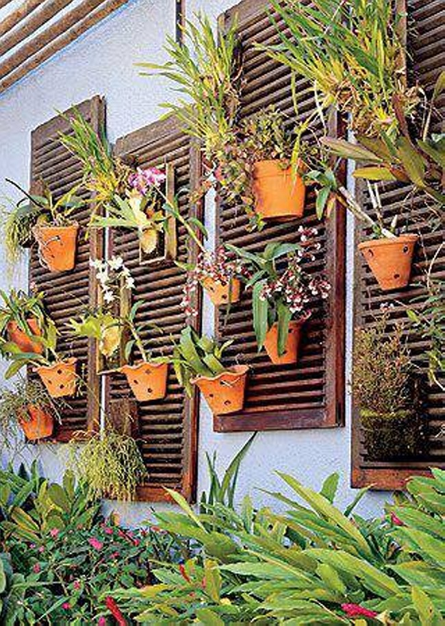 Planting Ideas with Wood Wall