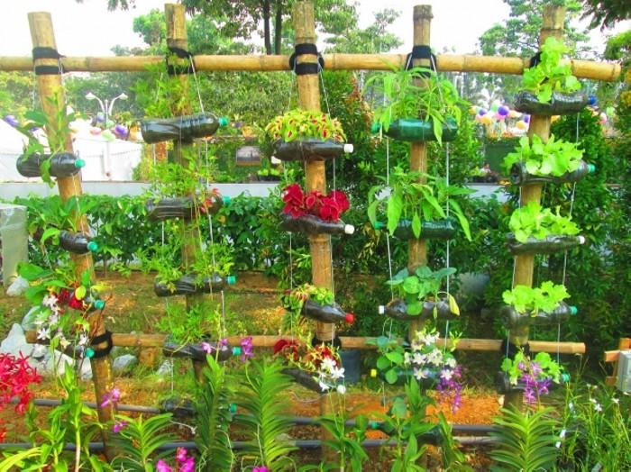 Plastic Bottle Garden Decor