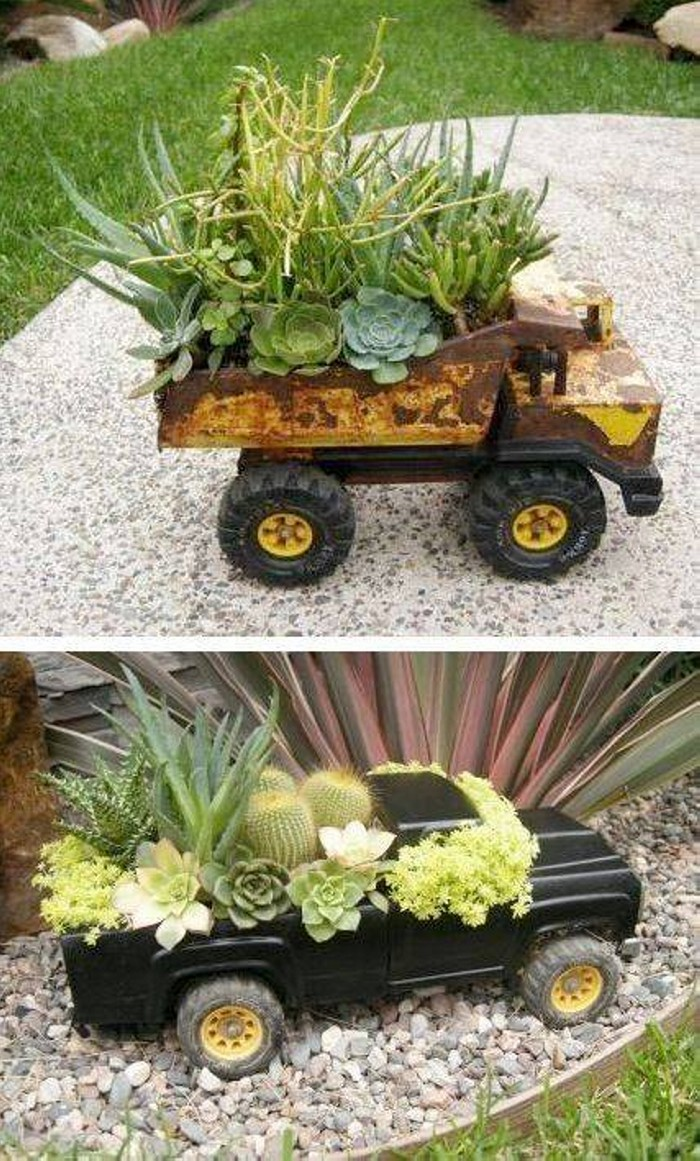 Re-purposed Garden Art