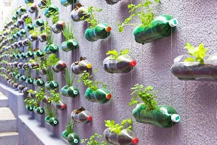 Recycled Plastic Bottle Vertical Garden