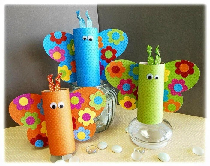 Toilet paper roll craft for kids upcycle art for Toilet paper roll art ideas