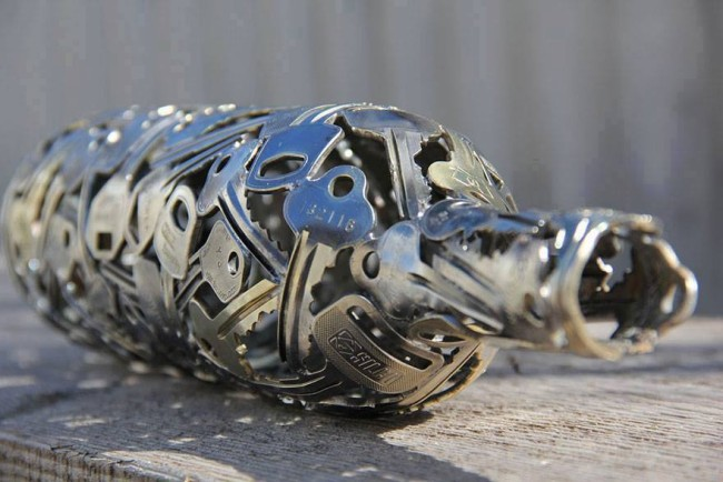 Turn Old Keys and Coins into Recycled Art