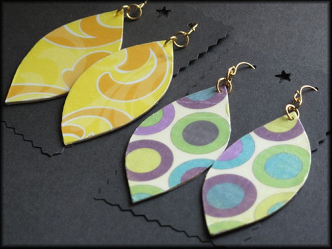 Upcycled Earring Designs