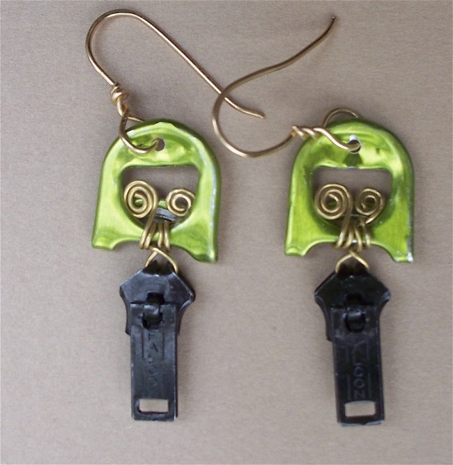 Upcycled Pull Tab Earrings